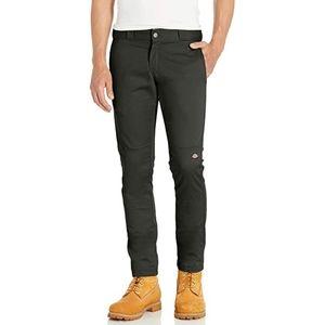 Dickies Skinny Straight Green Double Knee Pants